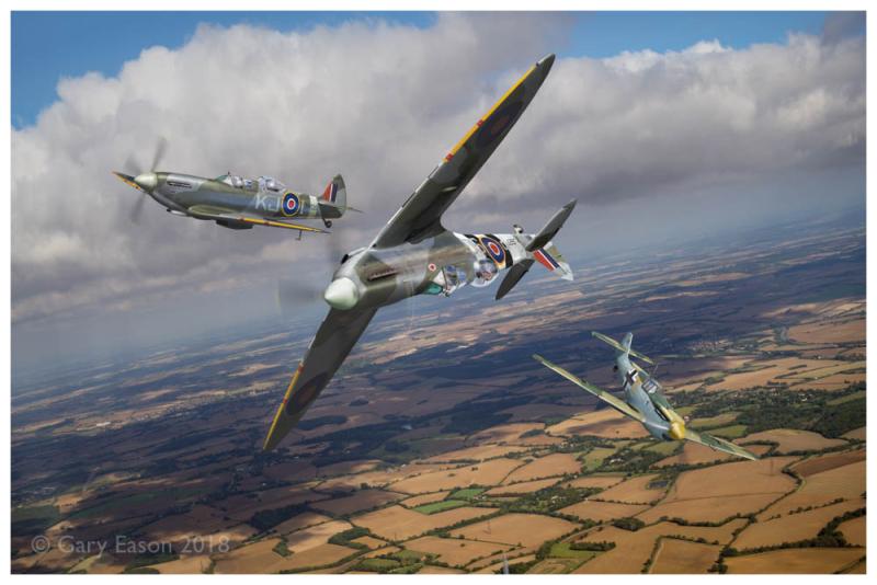 Spitfire TR 9 and Buchon Gary Eason