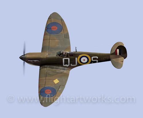 Spitfire Mk I R6596 flat_pr_blog