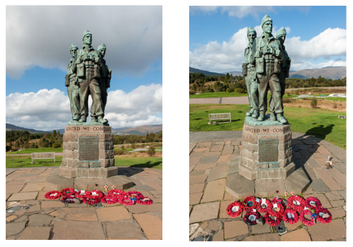 Commando Memorial two views Gary Eason