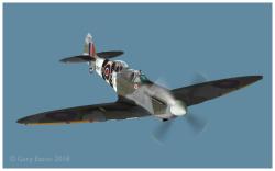 Spitfire TR9 MJ627 cutout Gary Eason