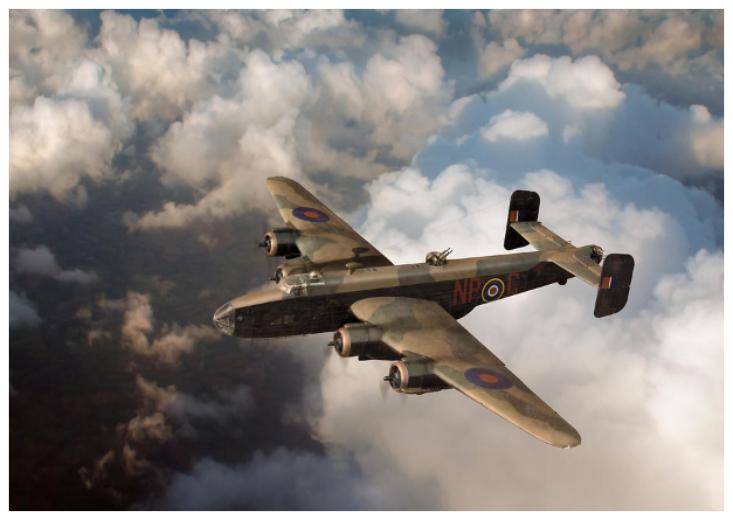 Halifax III above clouds Gary Eason