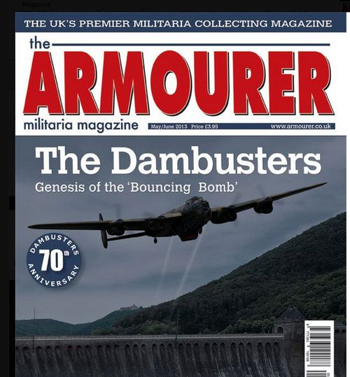The Armourer magazine cover MayJune 2013 CROP