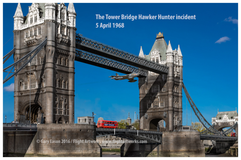 Hawker Hunter Tower Bridge Gary Eason sm