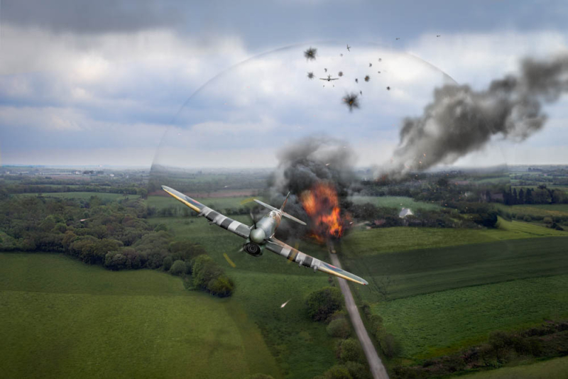 Normandy Typhoon shockwave © Gary Eason