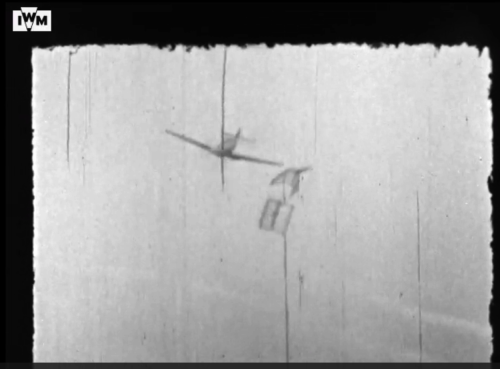 RAF gun camera film screenshot by Gary Eason with permission of the IWM