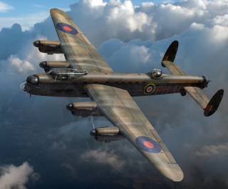 Lancaster PH-D in flight Gary Eason sm