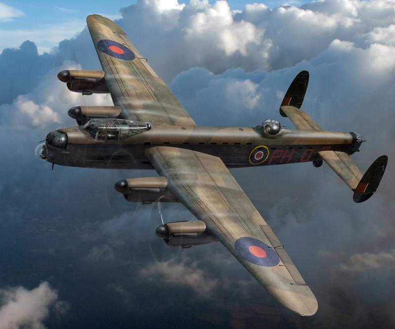 Lancaster PH-D in flight Gary Eason sm