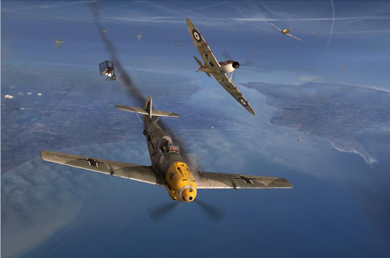 Helmut_Wick_shot_down_Poole_Bay_Gary_Eason_Flight_Artworks sm